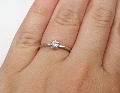 Zasnubni Prsten Z Bileho Zlata S Briliantem Velikost 52 Hodinky