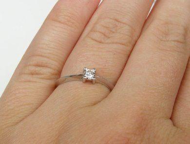 Zasnubni Prsten Z Bileho Zlata S Briliantem Velikost 53 Hodinky