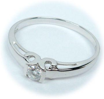 Zlatý prsten s diamantem velikost 54 | Hodinky-klenoty.cz