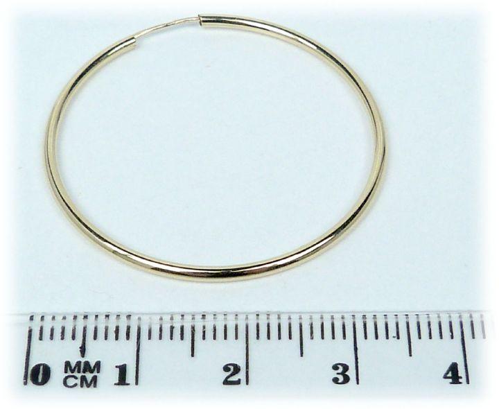 b043b6ccb Zlaté náušnice kruhy 33 mm   Hodinky-klenoty.cz