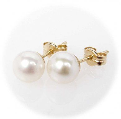 Zlaté náušnice s perlami  e731b1d347f