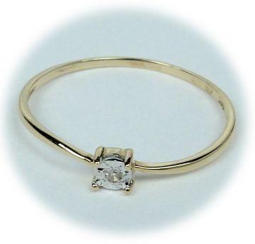 Zlatý prsten s diamantem A28894-56 | Hodinky-klenoty.cz
